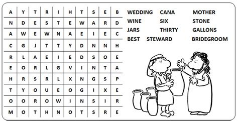 Wedding At Cana Word Search by Office For Liturgy Ordinary 2c