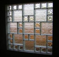 Ice pattern glass block window houston glass block