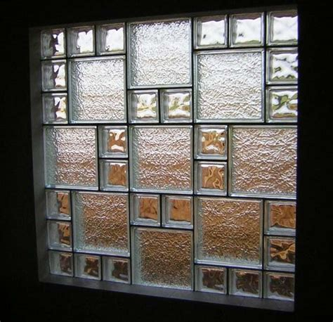Glass Block Designs For Bathrooms ice pattern glass block window houston glass block