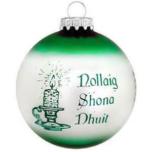 irish christmas custom ornament ethnic pride christmas