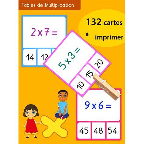 jeu memory tables de multiplication 224 imprimer
