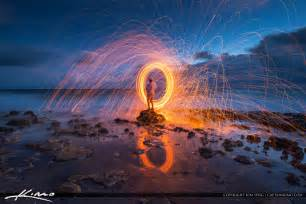 steel wool photography at beach