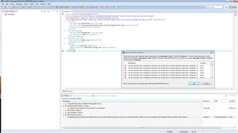 xml tutorial for experienced eclipse spring apache and xml error stack overflow