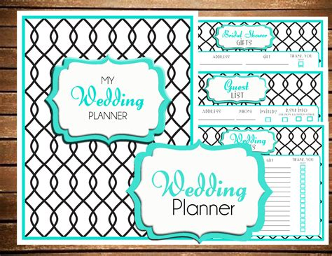 free printable wedding planner cover instant download wedding planner printable by