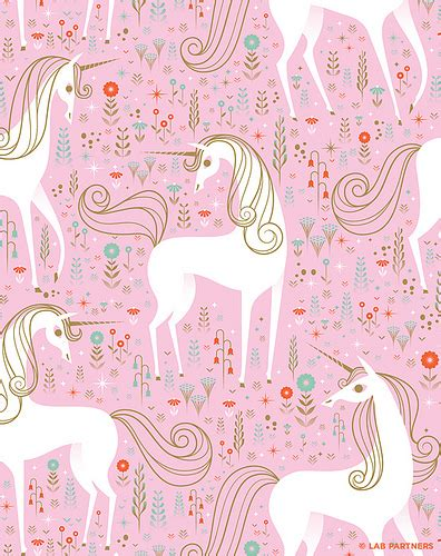 pattern of unicorn unicorn pattern unicorn wrapping papper for nobrow by
