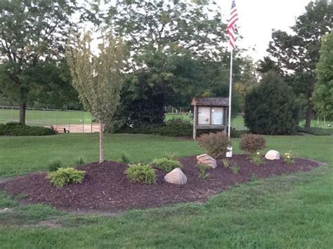 Flagpole Landscaping Ideas with Landscaping Around Flag Pole Landscape Design Pinterest