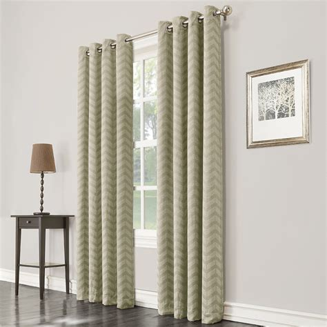 green grommet curtains shop allen roth taventry 63 in green polyester grommet