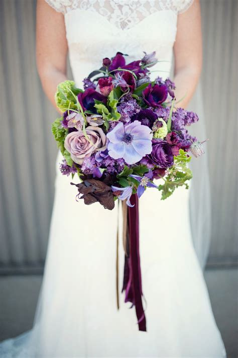 Handmade Bridal Bouquets - purple handmade california wedding purple wedding