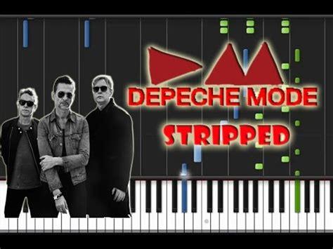 tutorial piano depeche mode depeche mode stripped piano cover synthesia piano