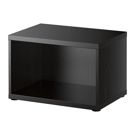 besta products best 197 frame black brown ikea