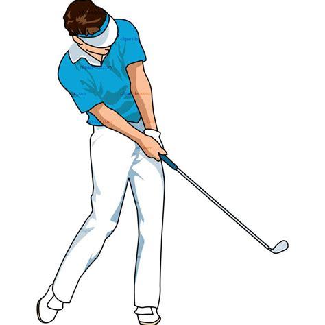 golf swing clip art golfer swinging clipart clipground