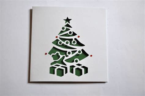 tree card sweet pea design tree laser cut card