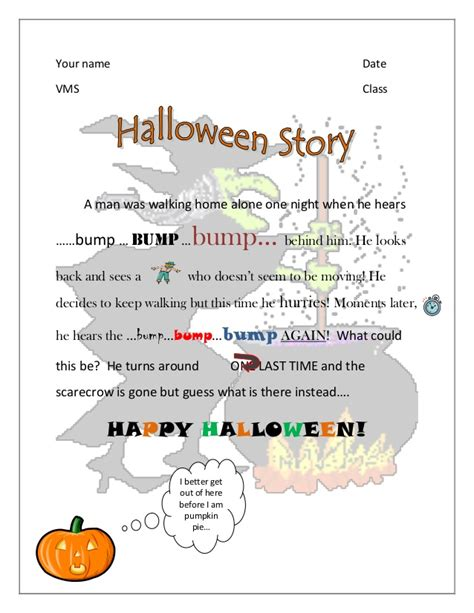 printable children s ghost stories halloween story exle