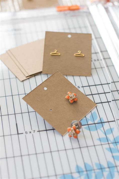 diy earring card template earring display cards modish
