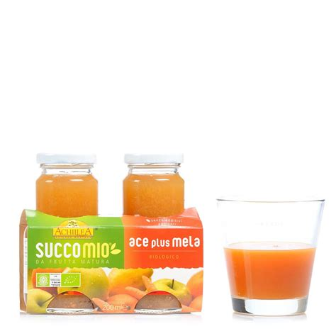 ace juice succomio ace plus apple juice 2x200ml achillea eataly