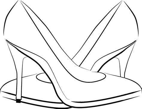 Heel Shoes Lines clipart womens shoes line