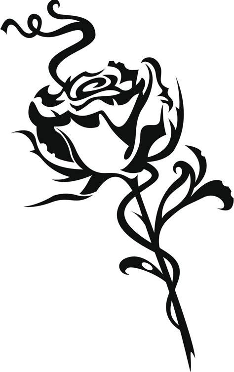 dibujos de tatuajes im 225 genes de rosas tribales clipart best