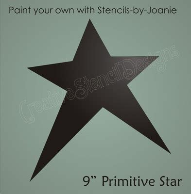Country Primitive Stencil 9 Quot Prim Star Scrapbook Signs | country primitive stencil 9 quot prim star scrapbook signs