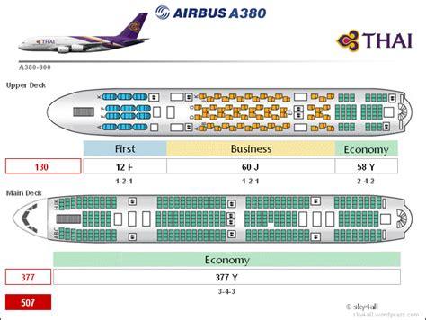 thai air a380 seat map airbus a380 cabin configuration
