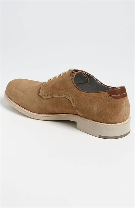 buck shoes johnston murphy ellington suede buck shoe in brown for