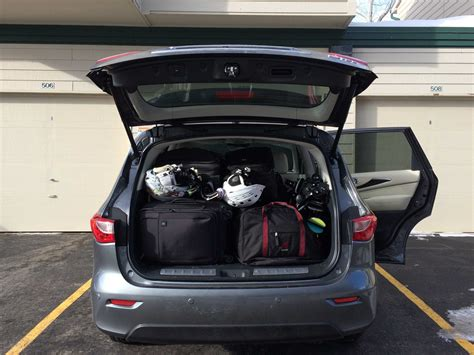 infiniti qx60 trunk space infiniti s luxury suv is solid enough for a ski trip