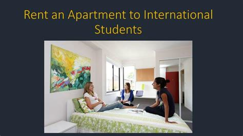 ppt rent an apartment to international students