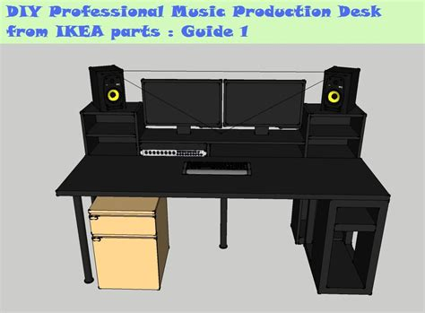 music studio desk ikea guide diy music production desk from ikea parts build 1