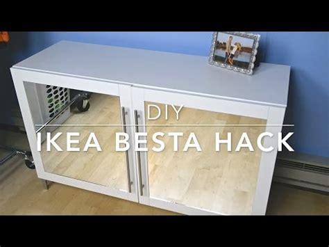 besta cabinet hack diy ikea besta hack mirrored cabinet