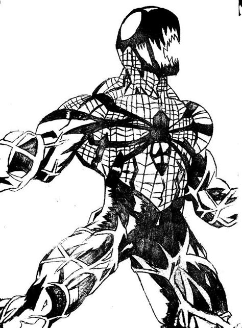 spider carnage coloring page image gallery spider carnage drawings