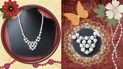perlas de estambre manualidades pinterest diy manualidades bisuteria collares collares de perlas