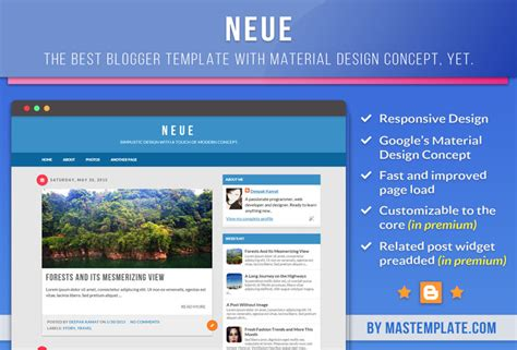 templates blogger material design neue material design blogger template download template
