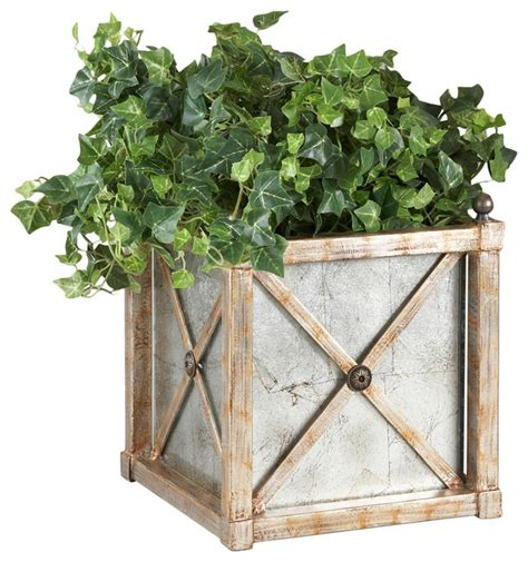 Mirrored Indoor Planters by Chelsea House 40 0198 Mirrored Cachepot Planter 380569