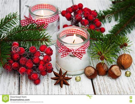 immagini candele natale decorazioni candele delle decorazioni di natale in barattoli di vetro
