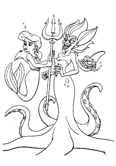 disney princess mermaid coloring pages