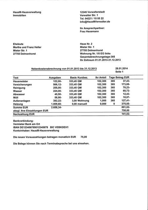 Kostenlose Vorlage Betriebskostenabrechnung nebenkostenabrechnung f 252 r mieter erstellen wiso vermieter software nebenkostenabrechnung
