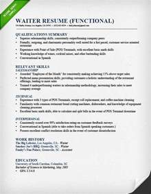 waitress resume template food service waitress waiter resume sles tips