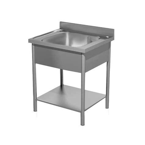 una vasca lavatoio gambe tonde acciaio inox una vasca e ripiano