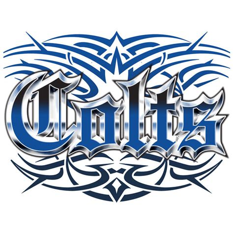 indianapolis colts tattoo designs colts style t shirt s s s m l xl 2x 3x ebay