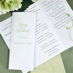 program paper pearl border tri fold paper for wedding programs 50