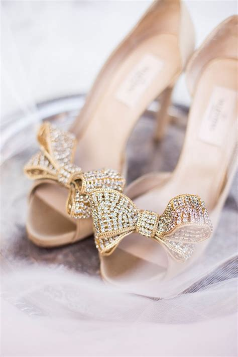 10 Prettiest Wedding Shoes by Gold Valentino Bow Pumps Wedding Shoes Http