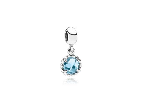 blue topaz pandora dangle charm pandora