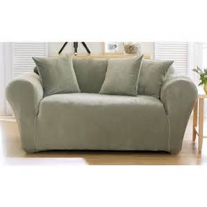stretch sofa covers sure fit stretch pique sofa slipcover box cushion