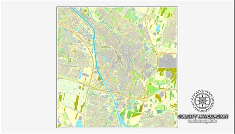 netherlands buildings map utrecht netherlands printable vector city