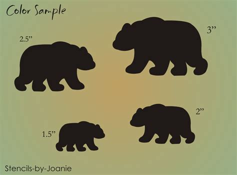 Moose Home Decor by Stencil Lodge Rustic Black Bear Animal Shape Scrapbook