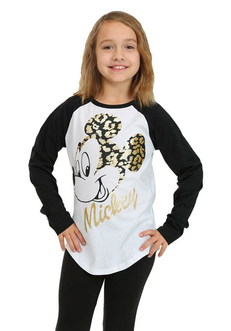 Miky Blouse mickey mouse gold foil sleeve raglan