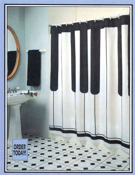 music shower curtain buy keyboard shower curtain music gift music novelty