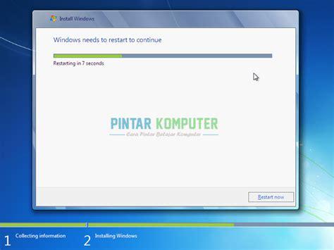 tutorial install windows 7 dengan usb rohati cara menginstal windows 7 dengan usb