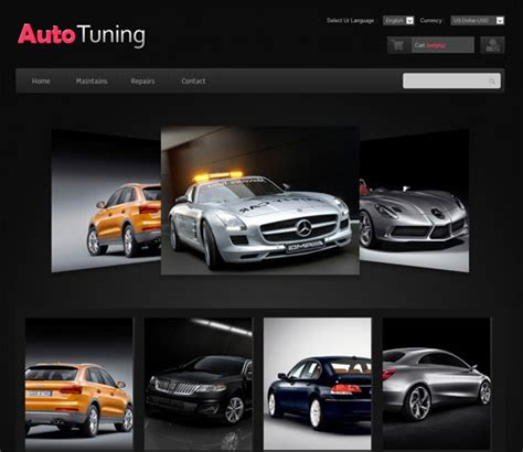car html template 20 auto parts cars html website templates