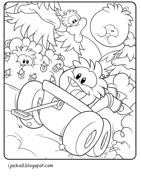 Club Penguin Rainbow Puffle Coloring Pages Www Imgkid Club Penguin Coloring Pages