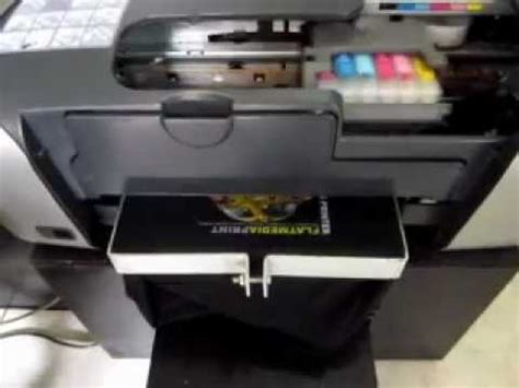 Mesin Sablon Kaos flat bed dtg printer a4 epson stylus r230 print on